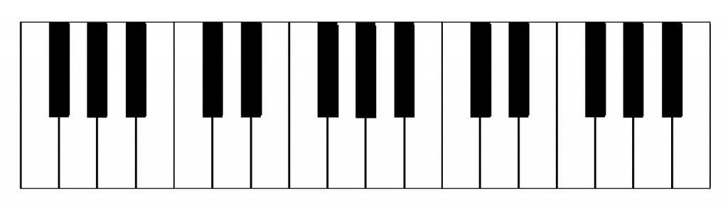 幼児ピアノ教室の鍵盤